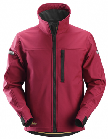 Snickers 1200 AllroundWork Softshell Jacket (Chili Red / Black)